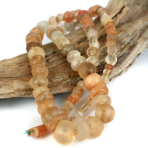 African Traded Very Old Quartz Stone Bead Strand