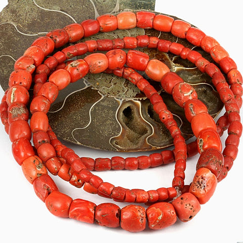 Old Yemen Traded Coral Bead Str. 5 - 14mm