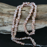 Tiny Pinkish Lavender Pearl Rice Stacked Nugget Beads