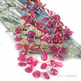 Ruby Briolette Gemstone Beads