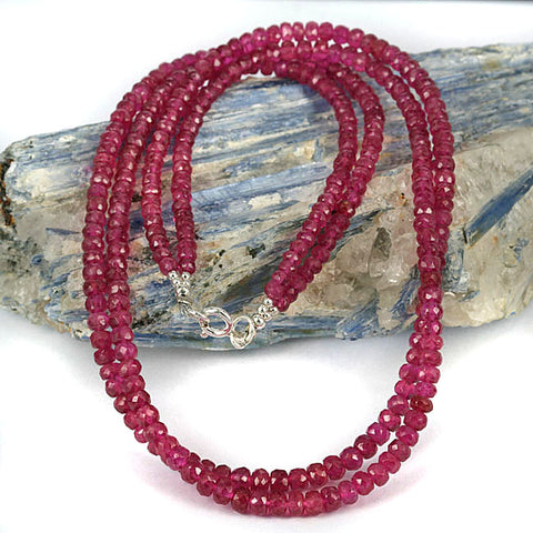Ruby Rondelle Double Str. Necklace
