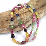 Multi Color Sapphire Gemstone Beads 5 - 12mm