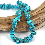 Blue Turquoise Gemstone Beads Kingman Mined