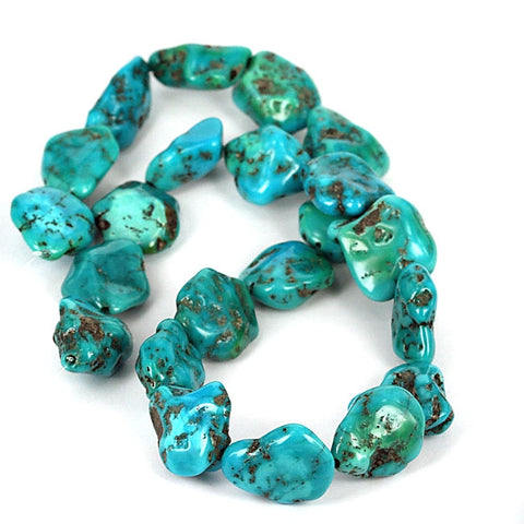 USA Turquoise Gemstone Beads Kingman Mined