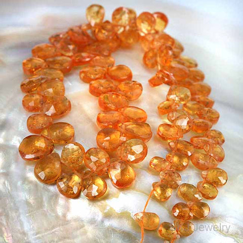 Natural Spessartite Orange Garnet Gemstone Beads