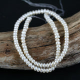 Stacked White Pearl Bead Str. 4-5mm