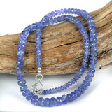 Real Tanzanite Gemstone Bead Necklace