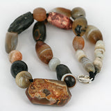 Very Old Agate Bead Strand Necklace