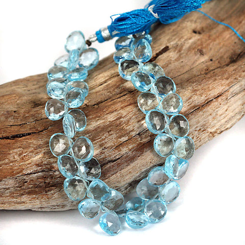 Real Topaz Brio Drop Gemstone Beads