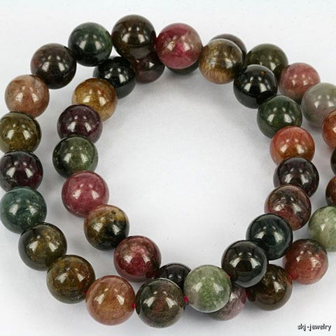 Natural Tourmaline Gemstone Beads Bracelet