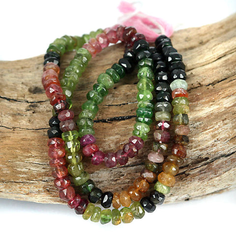 Real Tourmaline Gemstone Beads Multi Color