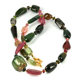 Tourmaline Nugget Gemstone Necklace