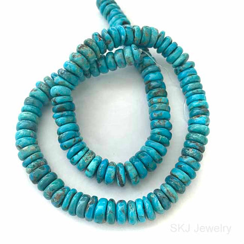 10mm Blue Turquoise Gemstone Beads USA Arizona