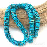 Blue Turquoise Gemstone Disc Beads USA Arizona