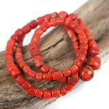African Traded Old Coral Bead Str. 4 - 10mm
