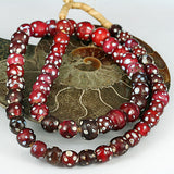 Old Glass Trade Beads Red Venetian Eye