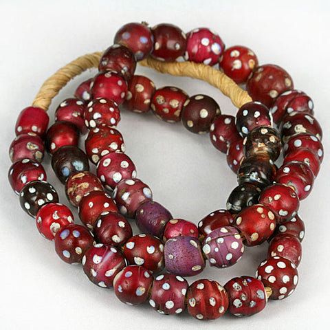 Venetian Old Glass Trade Beads Red Eye