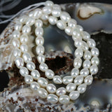 6mm White Oval Color Pearl Beads
