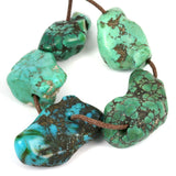 Very Old Turquoise Beads Himalayan Traded