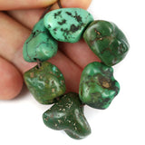 6 Old Turquoise Beads Himalayan Traded