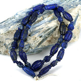 Natural Lapis Lazuli Hand Carved Collared Beads