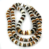 Yemen Traded Slice Cut Old Glass & Agate Beads