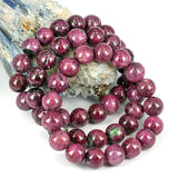 10mm Ruby Zoisite Bead Bracelet