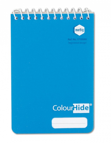 Notebook Marbig Colourhide Pocket 96 pages