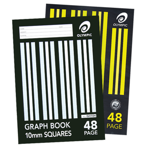 Graph Book A4 48 pages 10mm Grid