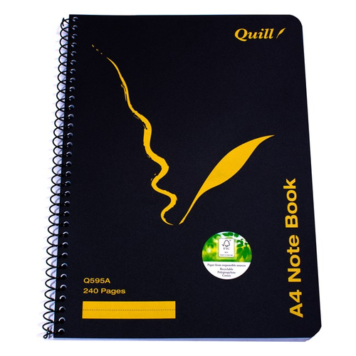 Exercise Book Quill Q595A A4 120 Leaf