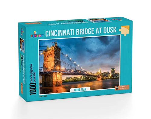 Jigsaw Puzzle 1000 pieces - Cincinnati Bridge at Dusk