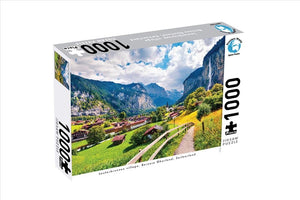 Jigsaw Puzzle 1000 pieces - Lauterbrunnen Village, Bernese Oberland, Switzerland