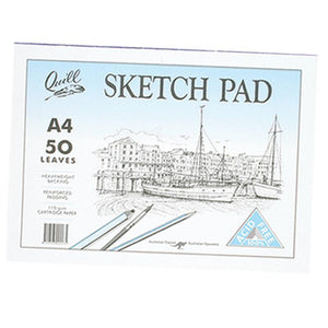 Sketch Pad Quill A4 Cartridge 50 Leaf