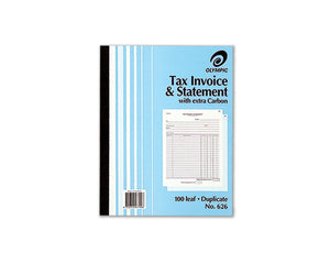 Invoice Book Olympic 626 250X200mm 100s Duplicate