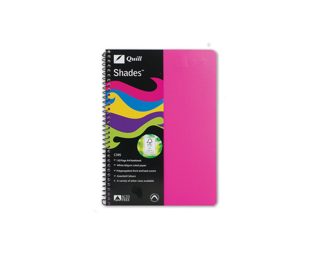Exercise Book Quill C595 Shades A4 60 Leaf