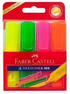 Highlighter Faber Textliner Ice Asstorted Pack of 4