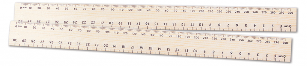 Ruler Wooden School 30cm Plain