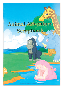 Scrap Book Animal Adventture 64 pages 230mm x 335mm