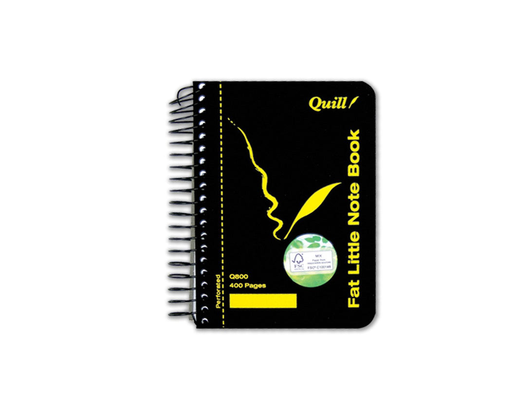 Notebook Quill Fat Little Q800 140X102mm 400 Pages