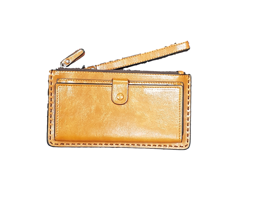 Travel Wallet - Leather Tan clip