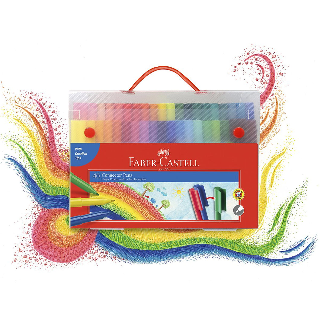Connector Pens Faber Gift Case of 40 + Colour Wheel