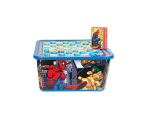 Spiderman Storage Tub With Game & Puzzle