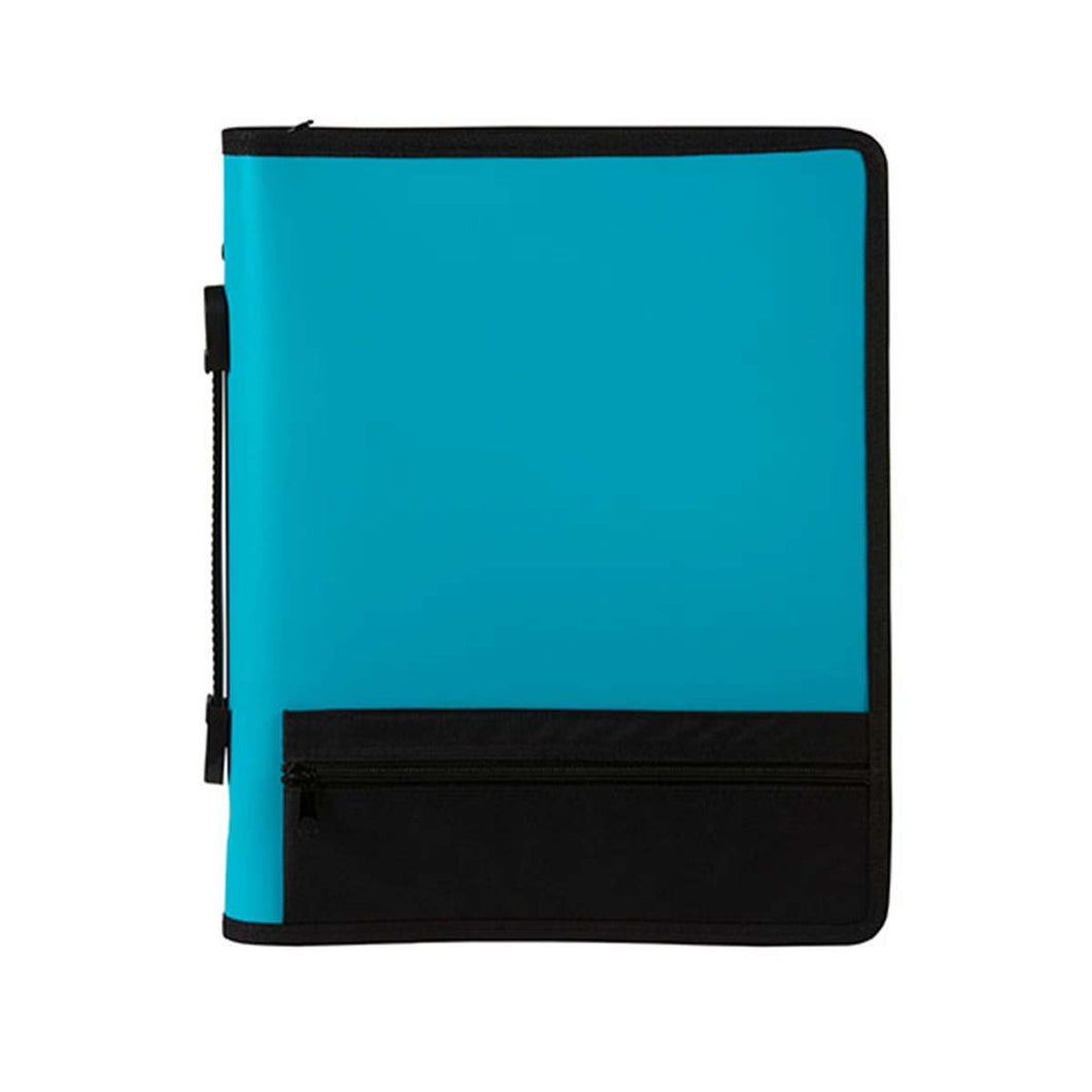 Binder Zipper Marbig A4 3 Ring Blue