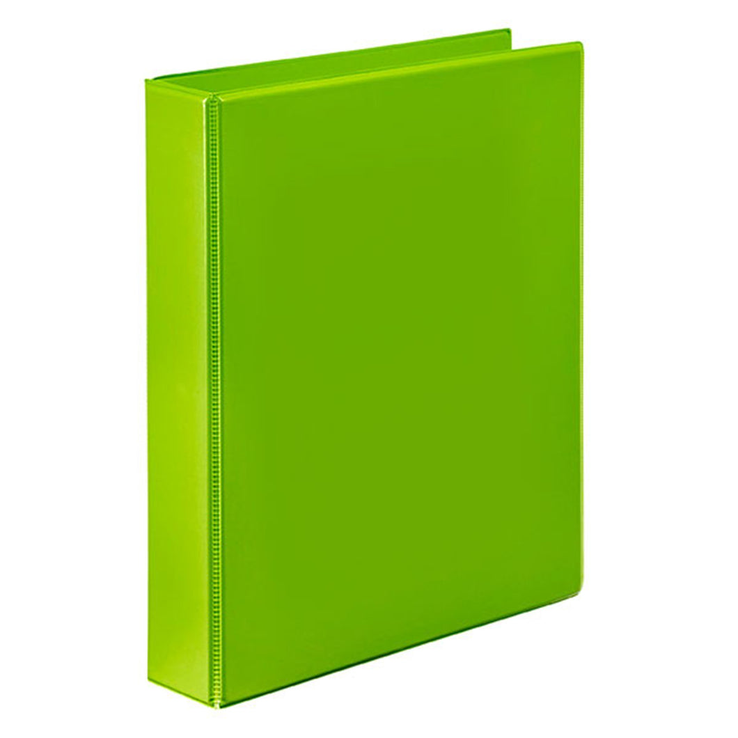 Binder Insert Marbig A4 2 Ring 25mm Lime