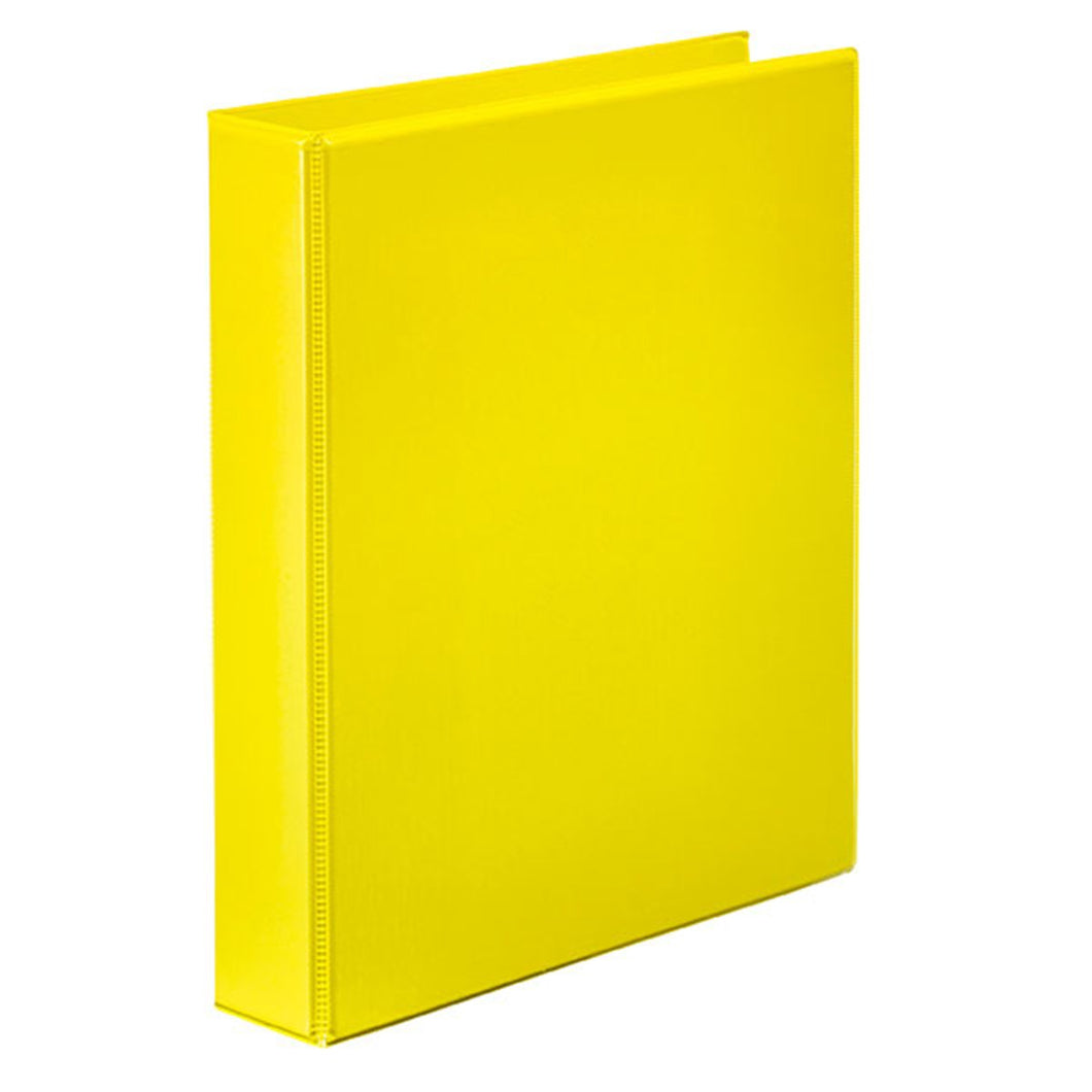 Binder Insert Marbig A4 2 Ring 25mm Yellow
