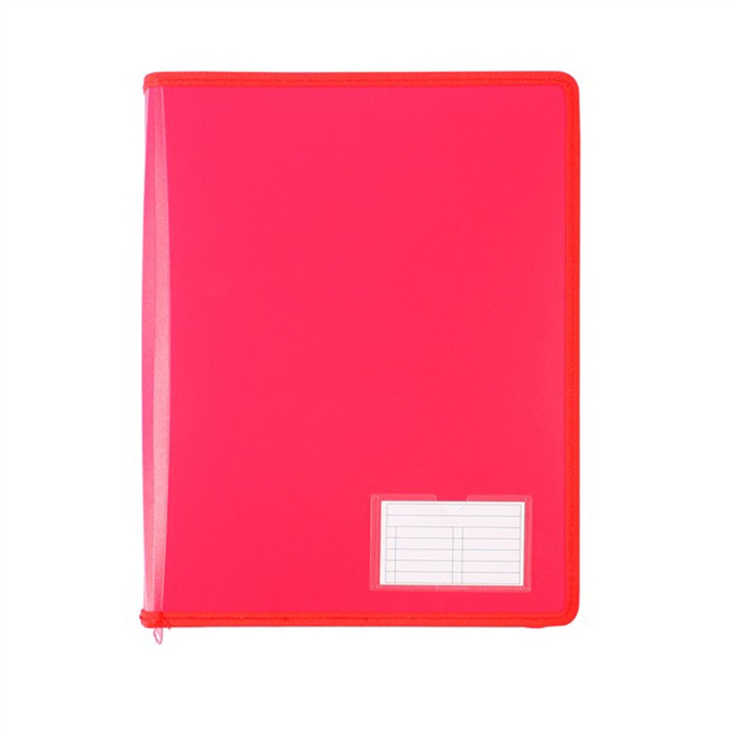 Binder Zipper Bantex A4  2 Ring 25mm Red