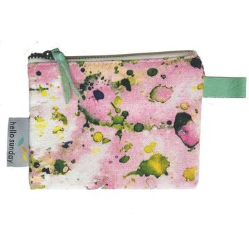 Coin Purse Pastel Splatter