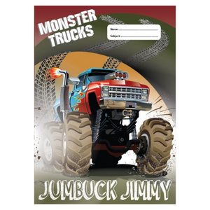 SCRAPBOOK COVER - MONSTER TRUCKS V