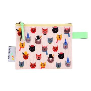 Coin Purse Crazy Cats