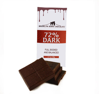 Brooklyn Born Chocolate - 72% Dark Chocolate Chocolate Bar